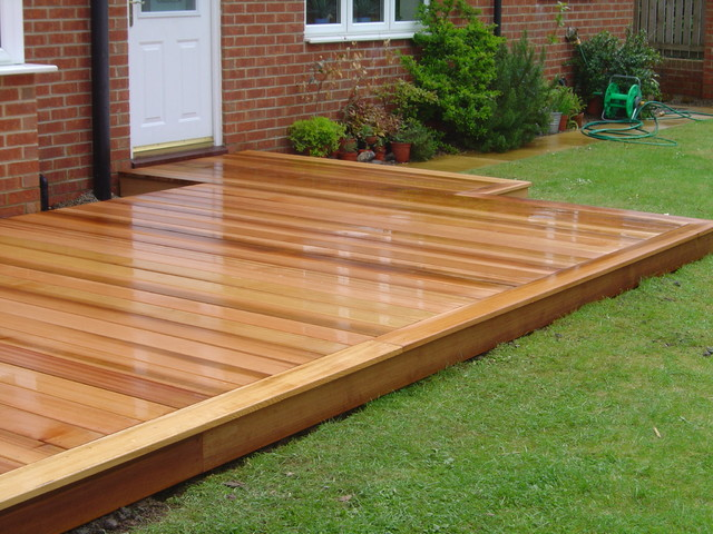 Western Red Cedar Deck by Green Onion - Rustic - Landscape ...