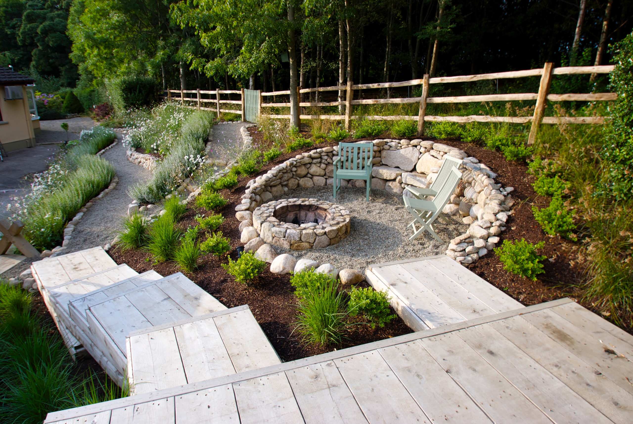 75 Beautiful Hillside Landscaping With A Fire Pit Pictures Ideas October 2020 Houzz