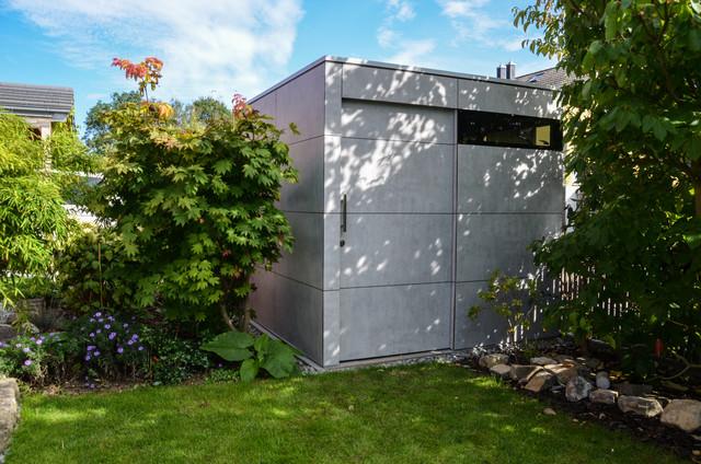 augsburg design gartenhaus gart sichtbeton modern. Black Bedroom Furniture Sets. Home Design Ideas