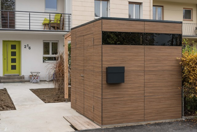 augsburg gartenhaus french walnut modern haus fassade m nchen von design garten. Black Bedroom Furniture Sets. Home Design Ideas