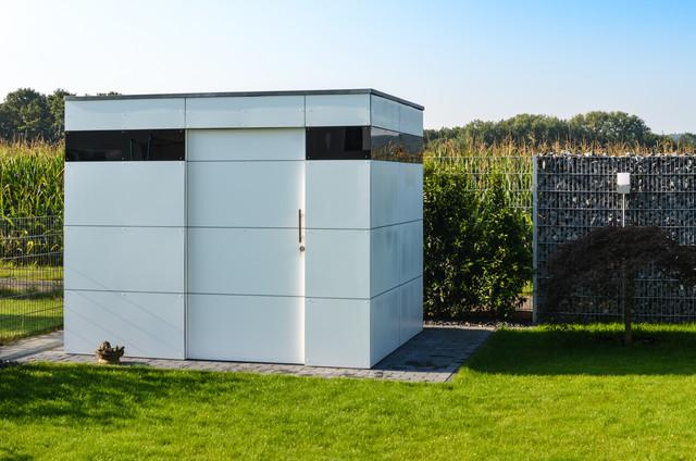 euskirchen gart zwei modern garage ger teschuppen. Black Bedroom Furniture Sets. Home Design Ideas
