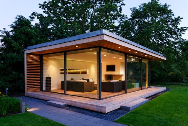 glashaus mit keller minimal windows modern granny flat or shed frankfurt by krenzer