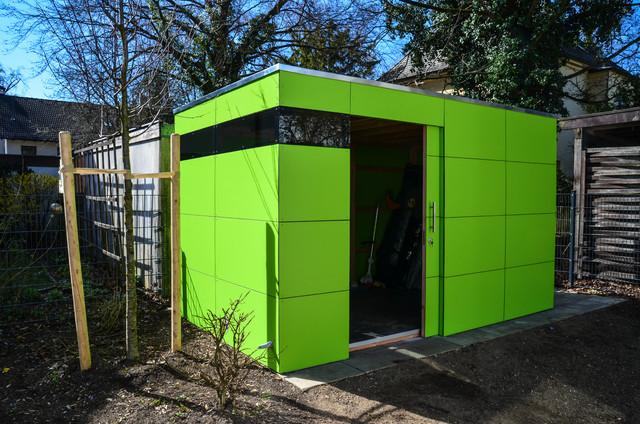 m nchen design gartenhaus gart lime green. Black Bedroom Furniture Sets. Home Design Ideas