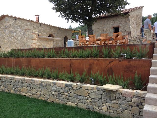 architettura del paesaggio di casa rurale toscana