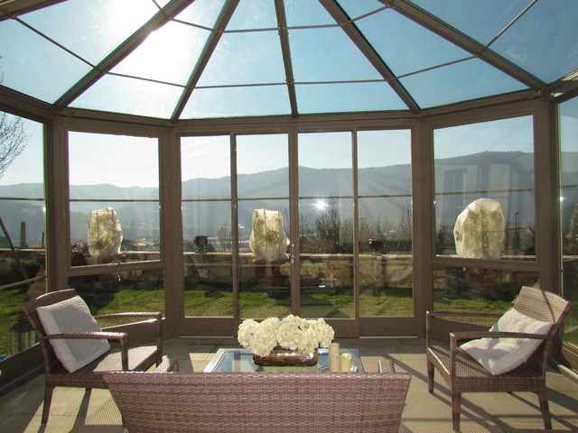 Serra solare contemporaneo giardino firenze di for Serra solare
