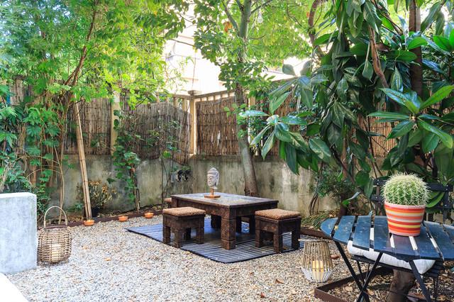Una casa wellness con giardino zen orientale giardino for Giardino orientale