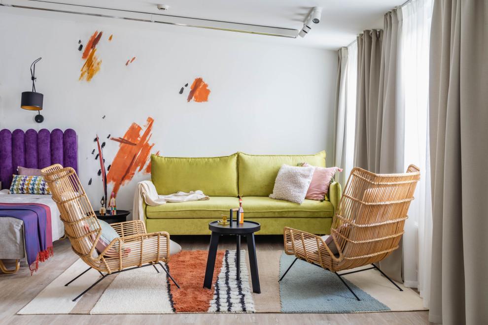 Living room - contemporary living room idea in Saint Petersburg