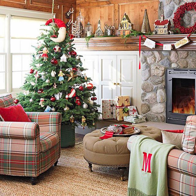 Идеи новогоднего интерьера living-room