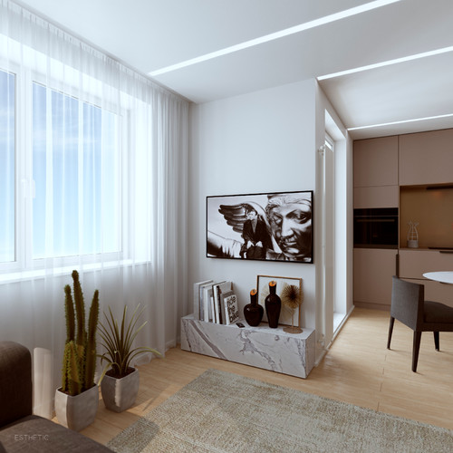 Contemporary Architectural Design in Minsk with Statement Lighting