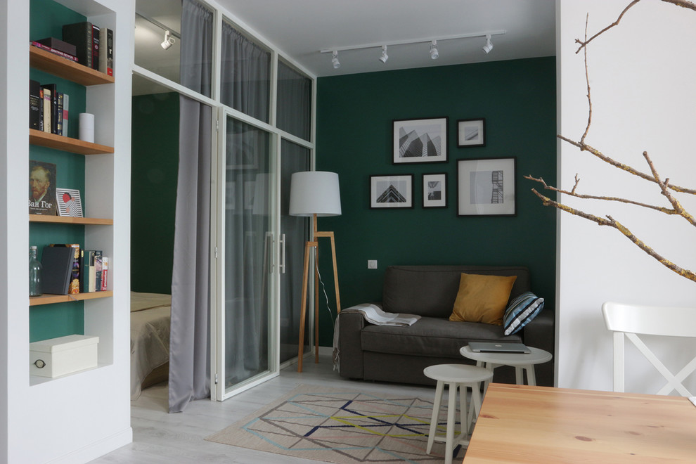 Inspiration for a contemporary living room remodel in Moscow