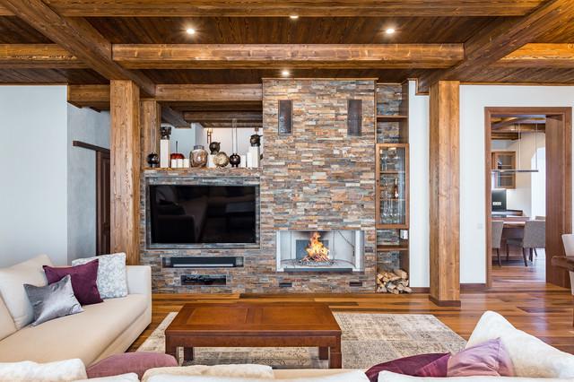 Коричневая спальня, дизайн интерьера, в коричневых 142