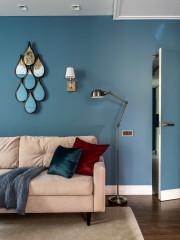 Houzz тур: Синяя квартира — в цвет делового костюма хозяйки