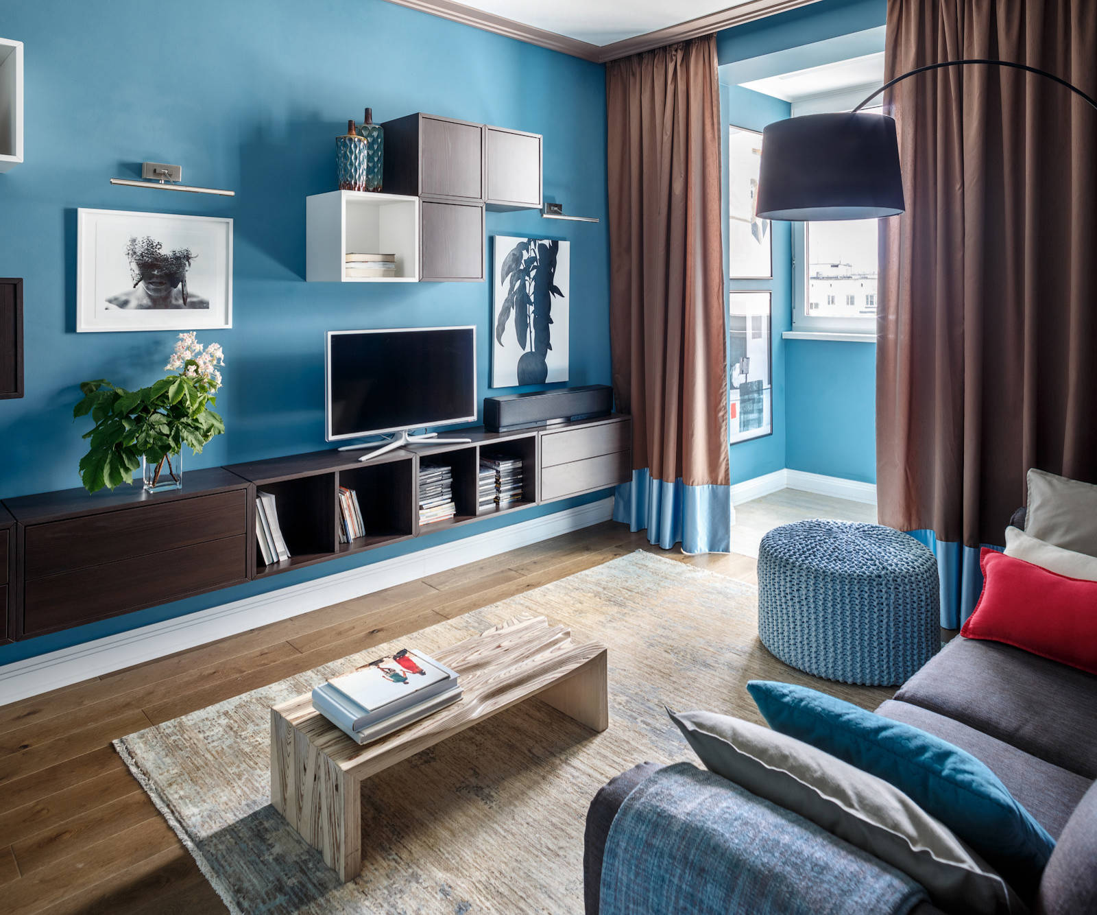 Blue And Brown Living Room Ideas Photos Houzz