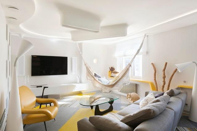 веселая квартира contemporary-vardagsrum