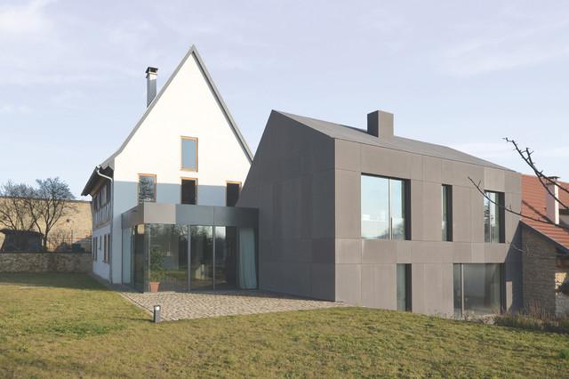 ansicht garten modern h user frankfurt am main von. Black Bedroom Furniture Sets. Home Design Ideas