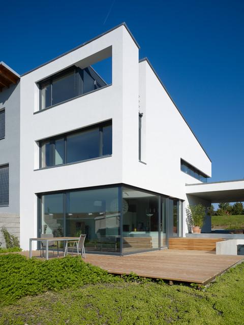 au enansicht mit terrasse modern h user berlin von architectoo. Black Bedroom Furniture Sets. Home Design Ideas