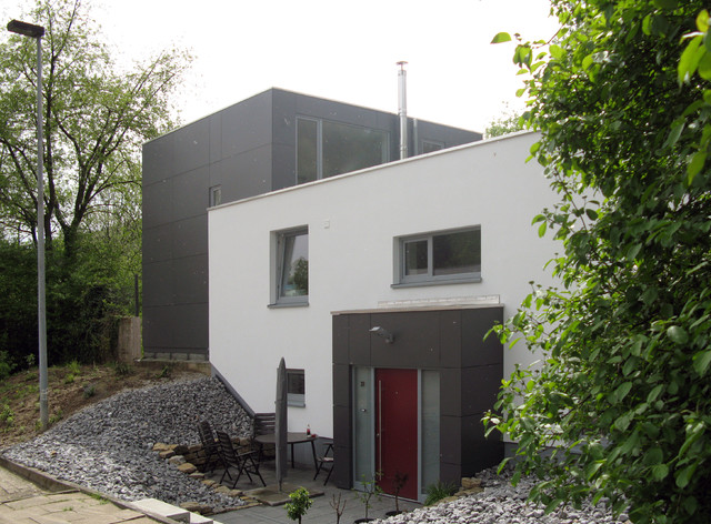Winkelbungalow Fassade Modern Pictures to pin on Pinterest