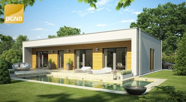 bungalow holzfassade modern haus fassade stuttgart von okal haus gmbh. Black Bedroom Furniture Sets. Home Design Ideas