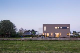 Doppelhaus ganz anders in K?ln - Bauhaus-Look - Haus & Fassade ...