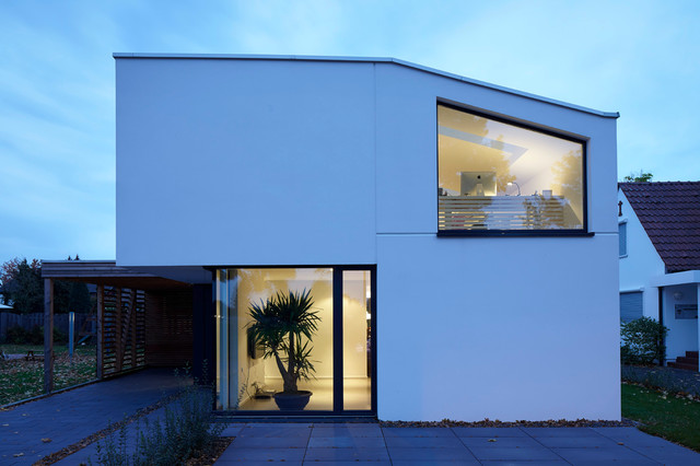 Einfamilienhaus als effizienzhaus modern haus for Fassade einfamilienhaus modern
