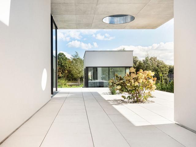 runde Fassade minimalistische Architektur