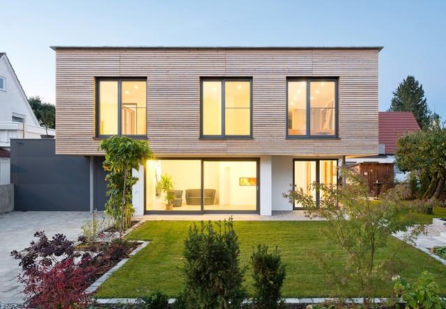 Einfamilienhaus in gennach 1 minimalistisch haus for Haus minimalistisch