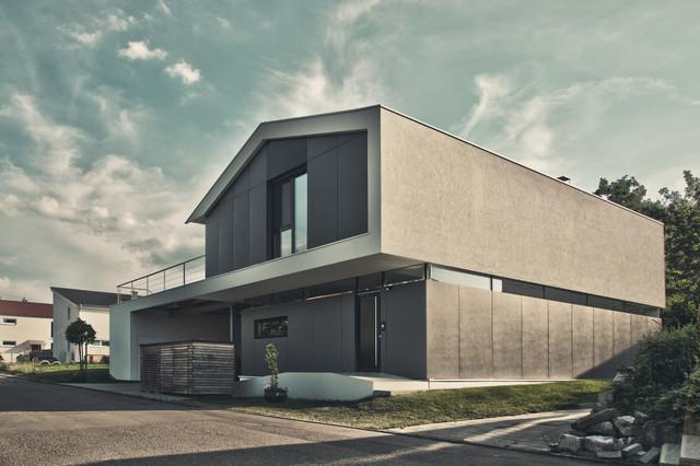 einfamilienhaus ku09 modern haus fassade stuttgart von schiller architektur bda. Black Bedroom Furniture Sets. Home Design Ideas