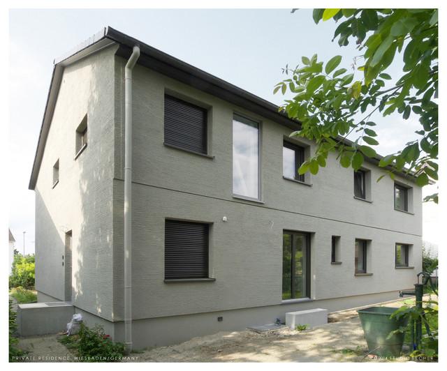 energetische sanierung eines 70er jahre kataloghauses modern haus fassade frankfurt am. Black Bedroom Furniture Sets. Home Design Ideas