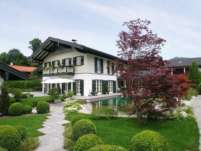 fassadengestaltung by hierat landhausstil h user m nchen von hierat gmbh. Black Bedroom Furniture Sets. Home Design Ideas