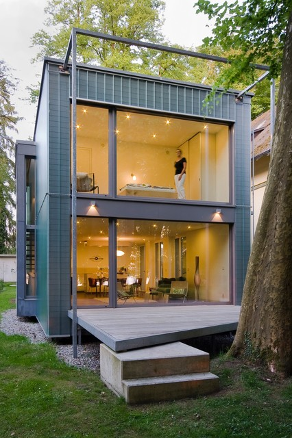 Haus am seeufer modern h user sonstige von for Design wohncontainer