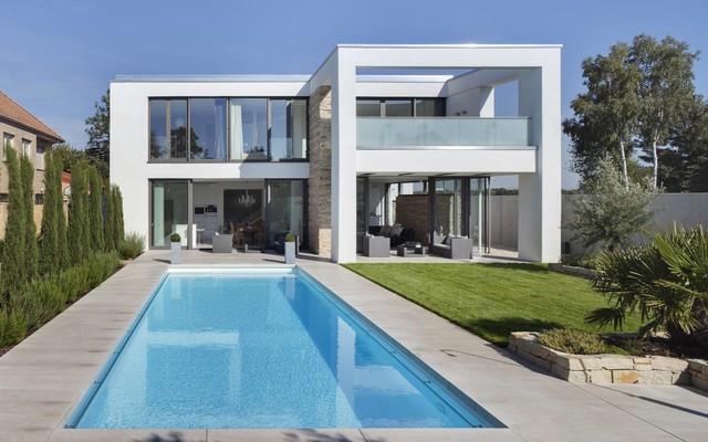 Haus d k ln m ngersdorf minimalistisch h user k ln for Haus minimalistisch