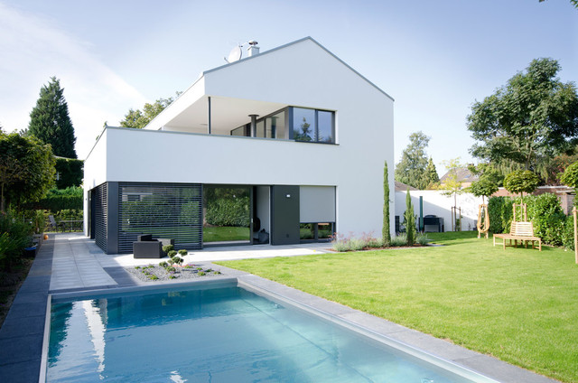 Haus efh neuss modern h user k ln von for Poolhaus fertighaus