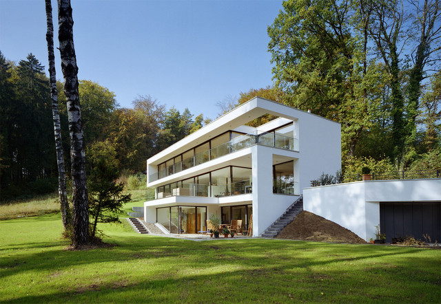 Haus hanglage modern for Haus am hang grundriss