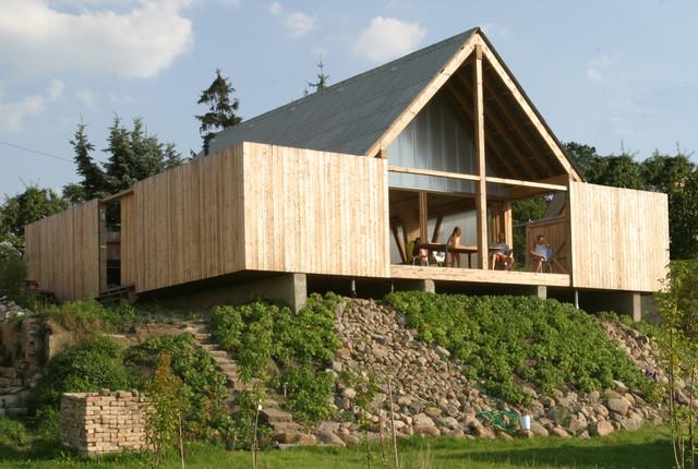 Haus m ansicht vom see modern haeuser