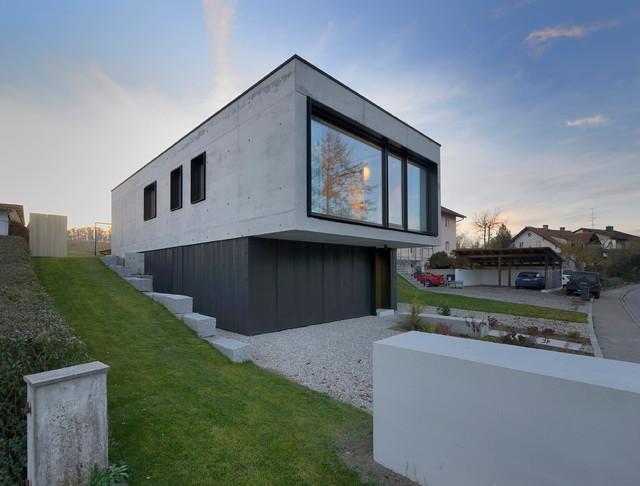haus t kpt architekten minimalistisch h user m nchen von peters fotodesign. Black Bedroom Furniture Sets. Home Design Ideas