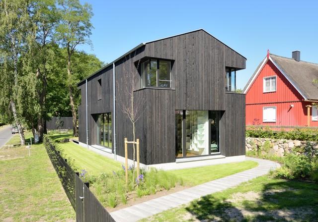 Holzfassade Schwarz schwarze skandinavische häuser ideen design bilder houzz