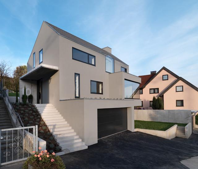 house f modern haus fassade stuttgart von. Black Bedroom Furniture Sets. Home Design Ideas