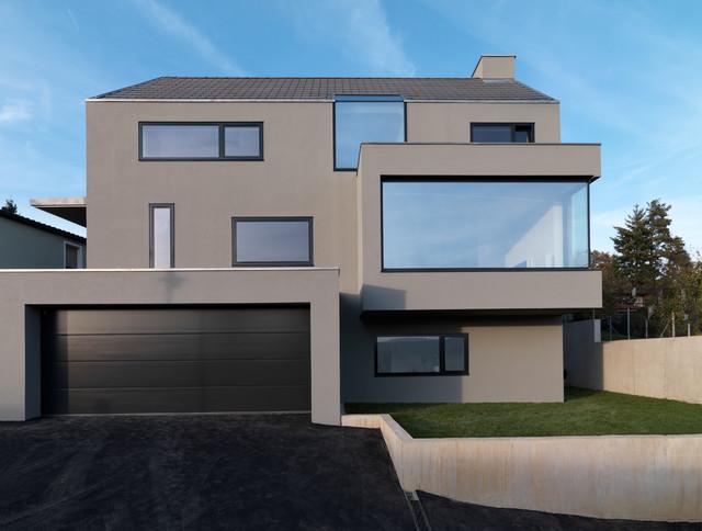 house f modern haus fassade stuttgart von ippolito fleitz group identity architects. Black Bedroom Furniture Sets. Home Design Ideas