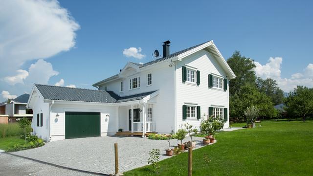Landhausstil Haus Fassade