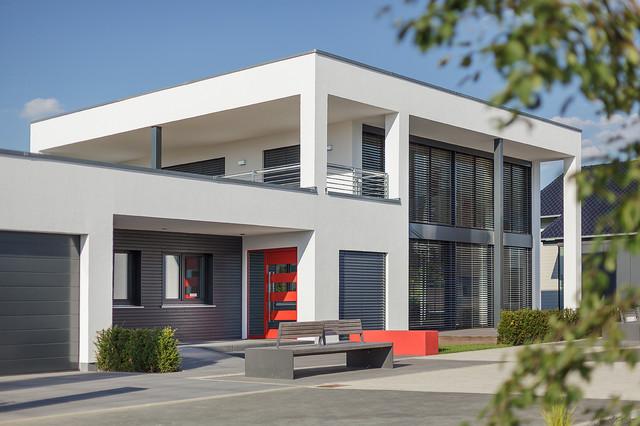 Luxhaus musterhaus frechen k ln modern haus fassade for Musterhaus modern