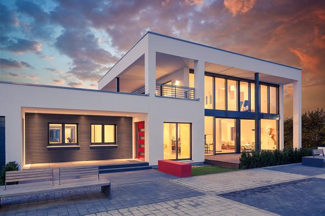 luxhaus musterhaus frechen k ln modern haus fassade other metro von lopez fotodesign. Black Bedroom Furniture Sets. Home Design Ideas