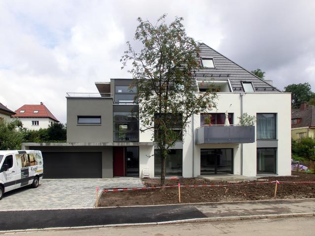 mehrfamilienhaus modern haus fassade stuttgart. Black Bedroom Furniture Sets. Home Design Ideas