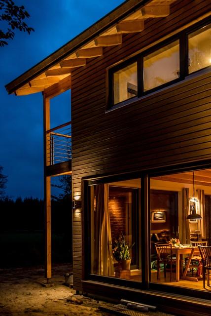 sonnenuntergang landschaft crofthouse landhaus design james stockwell