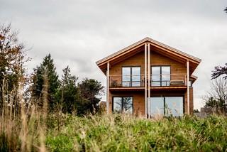 modernes landhaus in holzbauweise modern h user. Black Bedroom Furniture Sets. Home Design Ideas