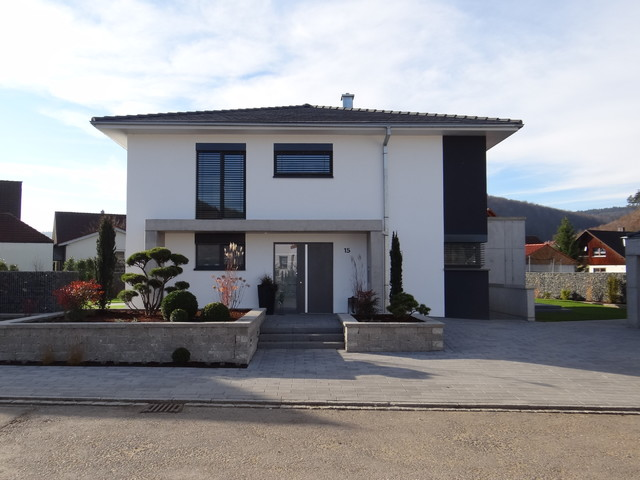 Einfamilienhaus neubau mit doppelgarage  Neubau eines Einfamilienhauses mit Doppelgarage sowie Außenanlage