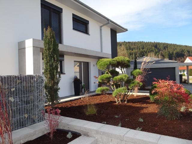 Einfamilienhaus neubau mit doppelgarage modern  Neubau eines Einfamilienhauses mit Doppelgarage sowie Außenanlage
