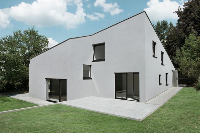 neubau einfamilienhaus modern haus fassade other metro von jan ulmer architekten. Black Bedroom Furniture Sets. Home Design Ideas