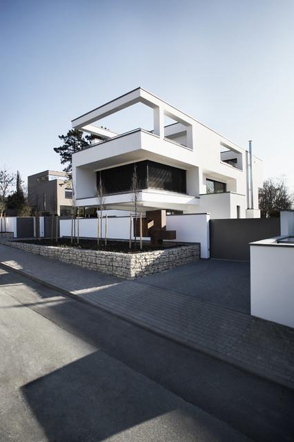 Neubau Einfamilienhaus Wiesbaden - Contemporary - Exterior ...
