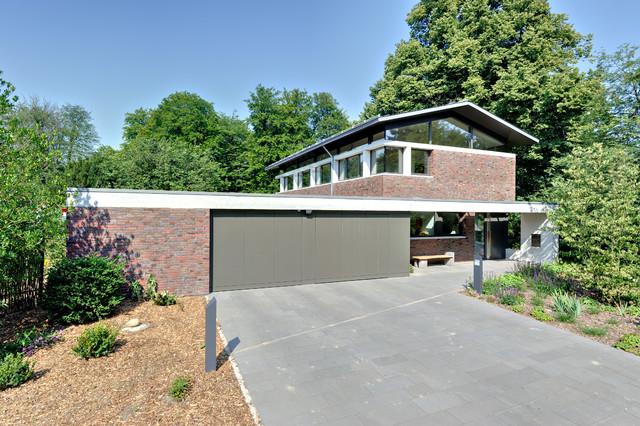 Doppelgarage satteldach modern  Neubau Winkelhaus