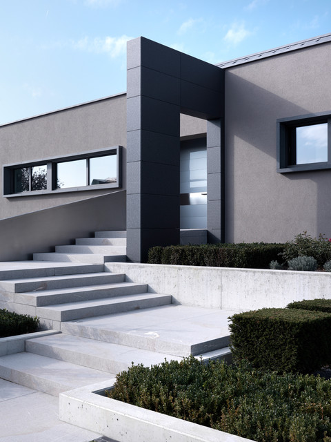 Residential building creacubo home concepts luxembourg for Modern office building design concepts